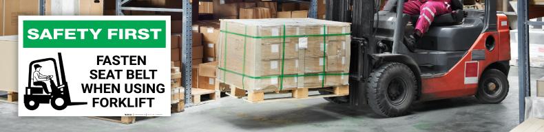 Safe Forklift Operating Label