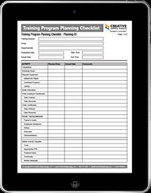 Training Program Planning Checklist