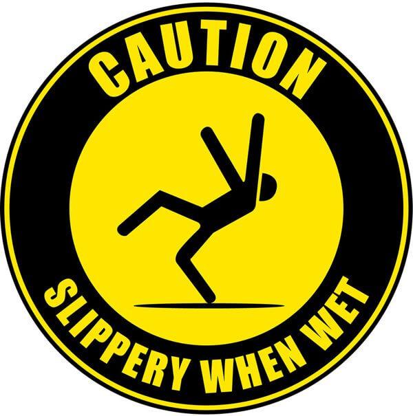 Slipping Hazard Sign