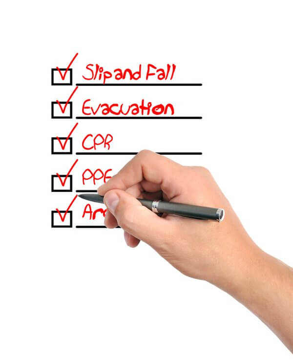 safety inspection, inspection checklist