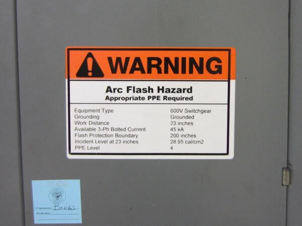 hazard label, safety label