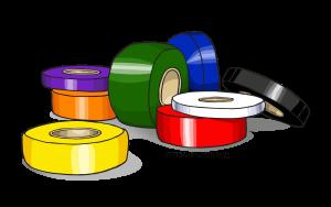 Piles of Floor Marking Tape