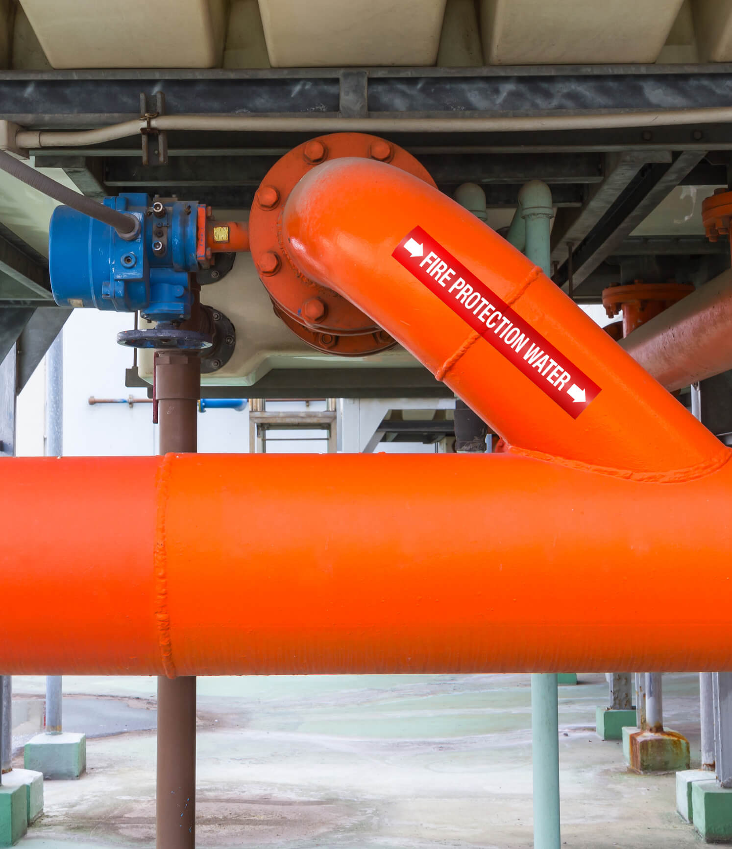 Where are pipe labels required
