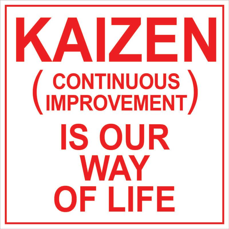 Kaizen Continuous Improvement Sign