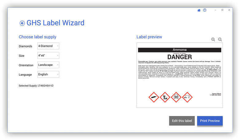 LabelSuite GHS Pipe Label Wizard