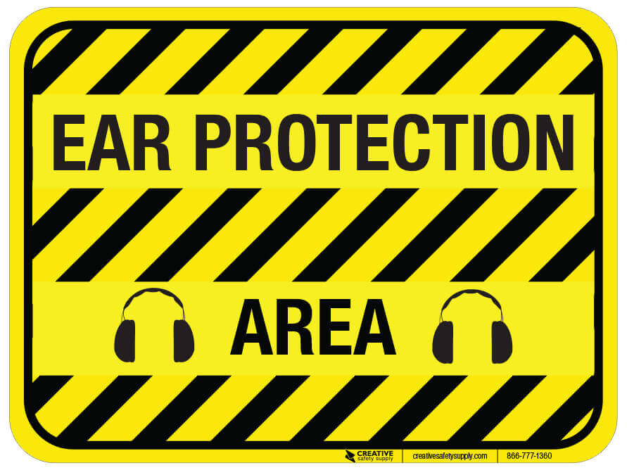 PPE, floor sign