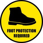Get this Foot Protection Floor Sign