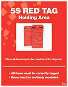 Poster- Red Tag Holding Area