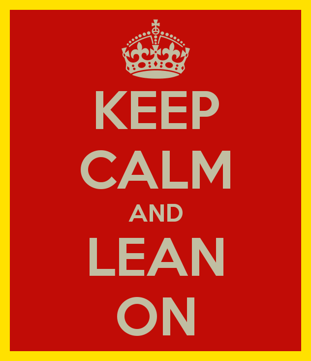 Keep Calm And Lean On Image