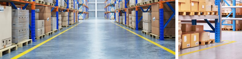 Warehouse Aisle Marking Tape