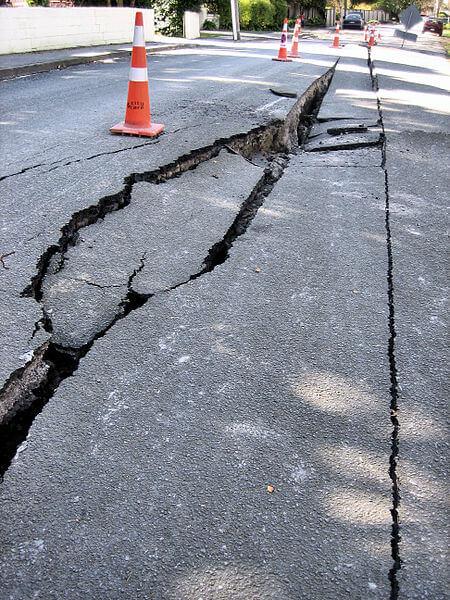crack in street