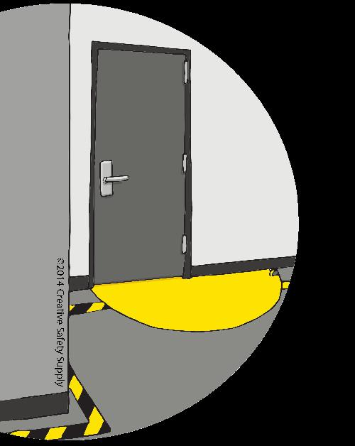 Floor Marking Tape Door Swing
