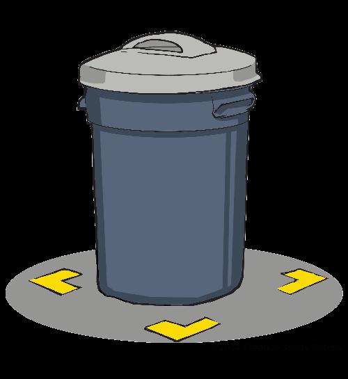 Floor Marking Tape Trash Bins