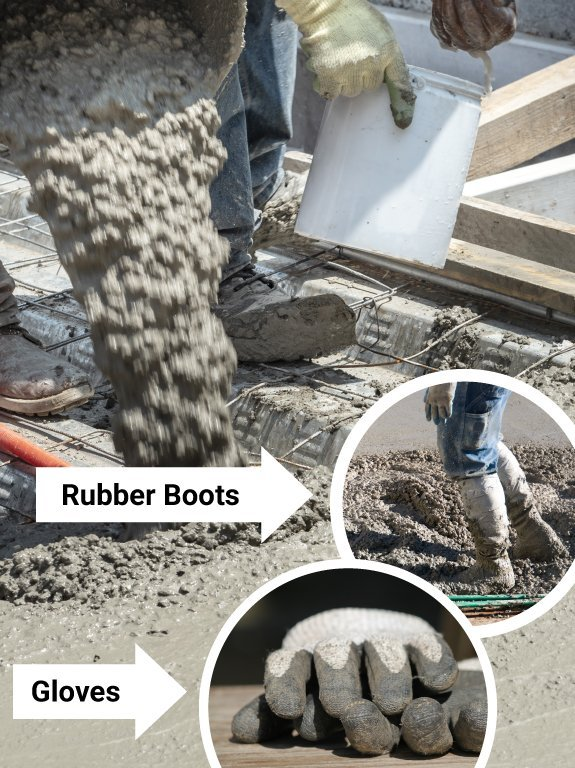 PPE needed for cement safety