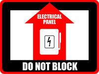 Warning Sign Electrical Panel