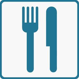 knife and fork label, kitchen label