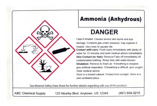 chemical label, hazard