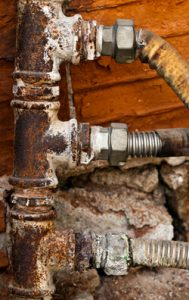 moldy and rusty water pipes